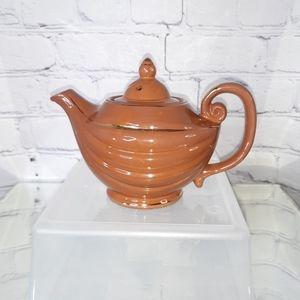 VINTAGE Mocha Gold Small Aladdin Teapot